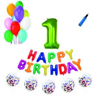 Pachete Happy Birthday Verde cifre 100cm