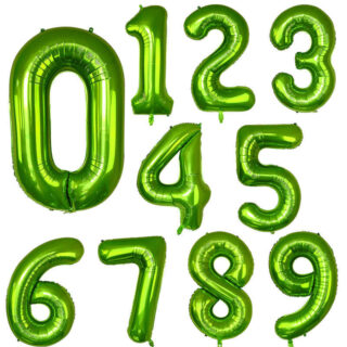 Baloane cifre folie 100 cm verde